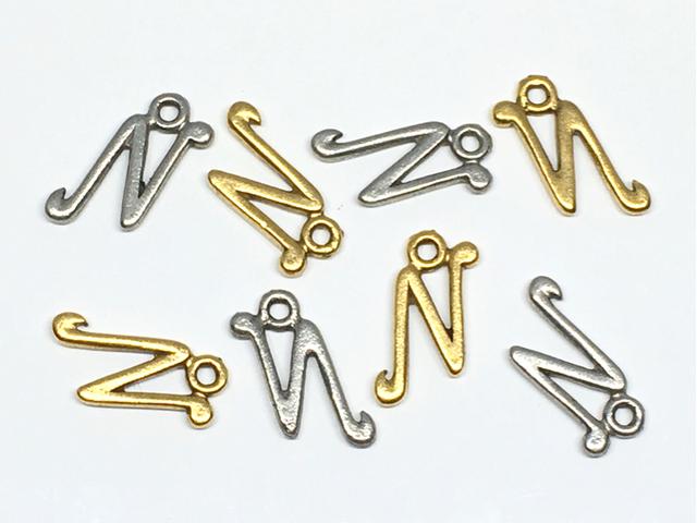 チャーム:アルファベット「N」/金古&銀古:各4コ(計8コ入)