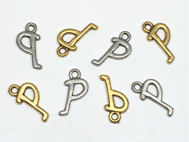 チャーム:アルファベット「P」/金古&銀古:各4コ(計8コ入)