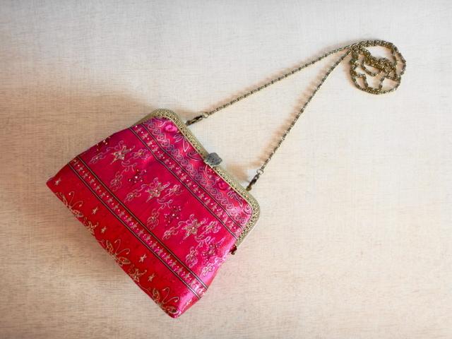 チュニジア布の2wayバッグ(サハラの宴 ピンク)