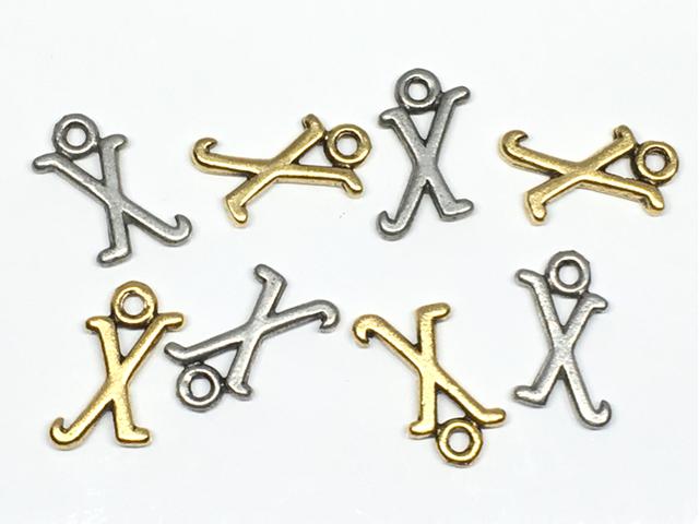チャーム:アルファベット「X」/金古&銀古:各4コ(計8コ入)