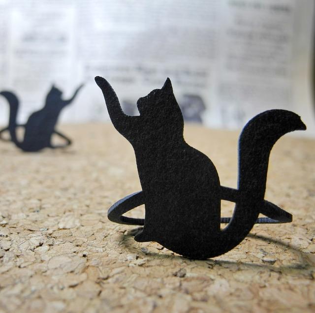 【送料¥80】 黒猫(クロネコ)登場!猫のブックマーク・黒