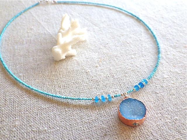 Turquoise and Druzy Ocean