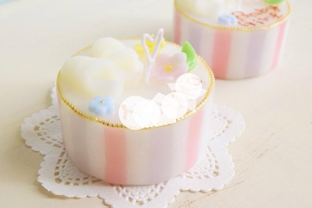 satozoさまオーダー:出産お祝いキャンドル(女の子)