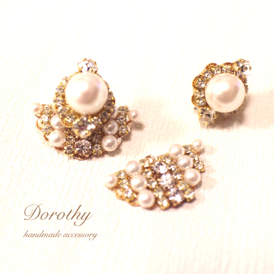 2way pearl&Swarovsky