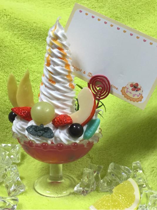 ソフトクリーム巻き巻きパフェのフォトスタンド