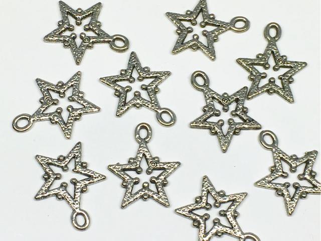チャーム:モチーフ「星」/銀古美:10コ