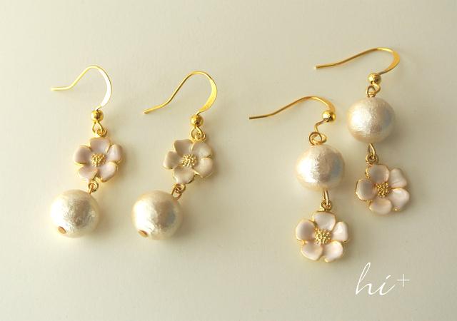 桃の花の春ピアス