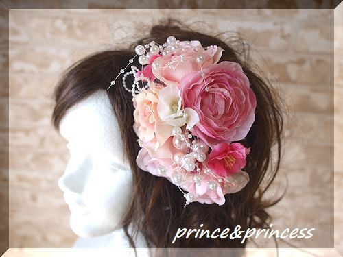 ピンクのキラキラヘッドドレス
