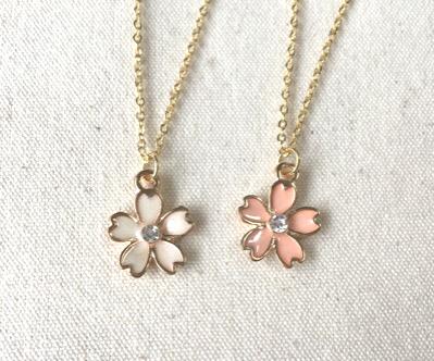 【送料無料】桜のネックレスG