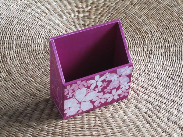 桜の携帯ホルダー(紫)
