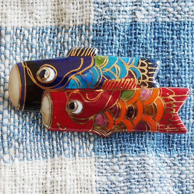 七宝焼ブローチ 鯉のぼり(大)