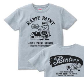ペイントマン 両面  XS(女性XS〜S)   Tシャツ【受注生産品】