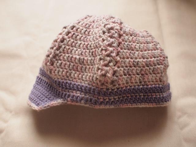 やさしいベビー帽【ピンク系】