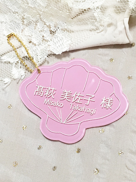 Wedding Place Cards 【SHELL】★ライトピンク★(ご注文は5個〜)