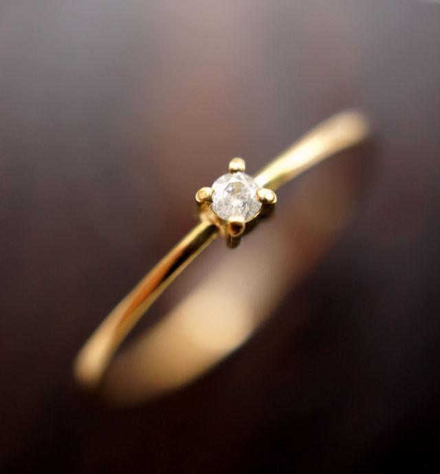 再販】K18ダイヤモンドのリング 〜Ethel