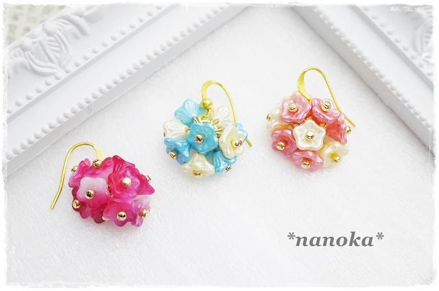 花咲くピアスorイヤリング