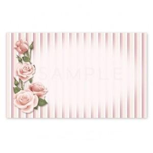 (MC20)〈メッセージカード&シール〉ヴィンテージ風エレガントローズ《ピンク01》 A4サイズ