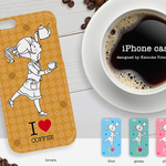 iPhoneケース/I LOVE COFFEE