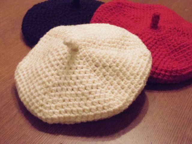 トリコロールシリーズ スノーホワイト ベレー帽 Mサイズ