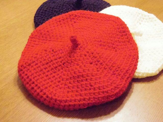 トリコロールシリーズ レッド ベレー帽 Mサイズ