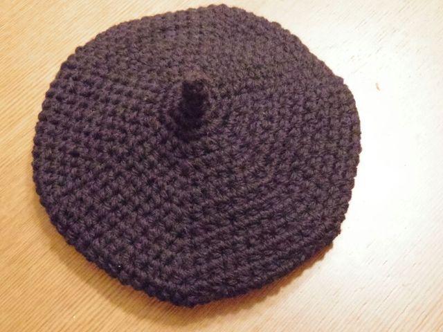 トリコロールシリーズ ネイビーべレー帽 Mサイズ
