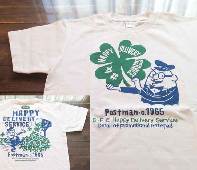 【4/30までSALE!2300円→1100円】【即納品】クローバー&ポストマン 両面 Tシャツ Sサイズ