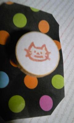 消しゴムはんこ◎かぼちゃネコ☆