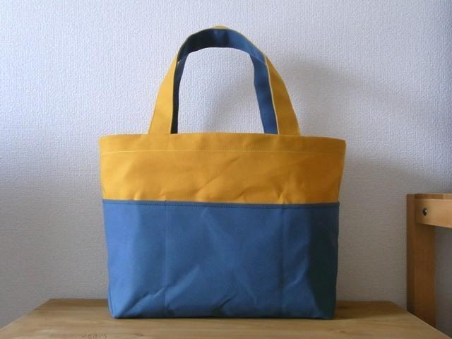 K�ͤ�ͽ���bicolor tote �������� �� yellow��blue gray