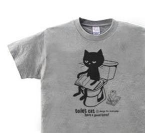 トイレとねこ WM〜WL?S〜XL Tシャツ【受注生産品】