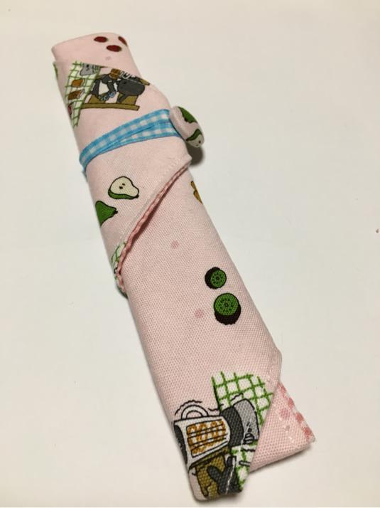 入園入学準備 ピンクの箸ケース