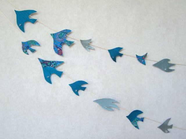 水晶と青い鳥のガーランド?
