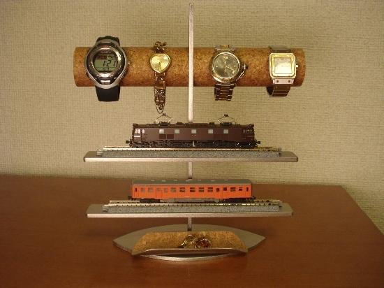 時計スタンド 腕時計、電車模型トレイ付きスタンド
