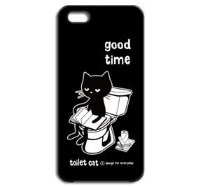 【再々々販】トイレとねこ  iPhone5/5Sケース【受注生産品】