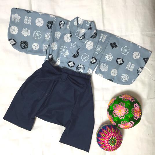 5bdfc3588e79a 節句 男の子用ベビー着物と袴風サルエルパンツ