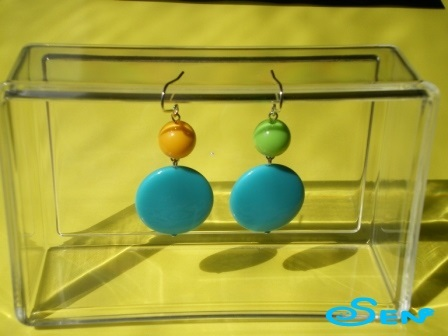 ポップピアスB(青緑)