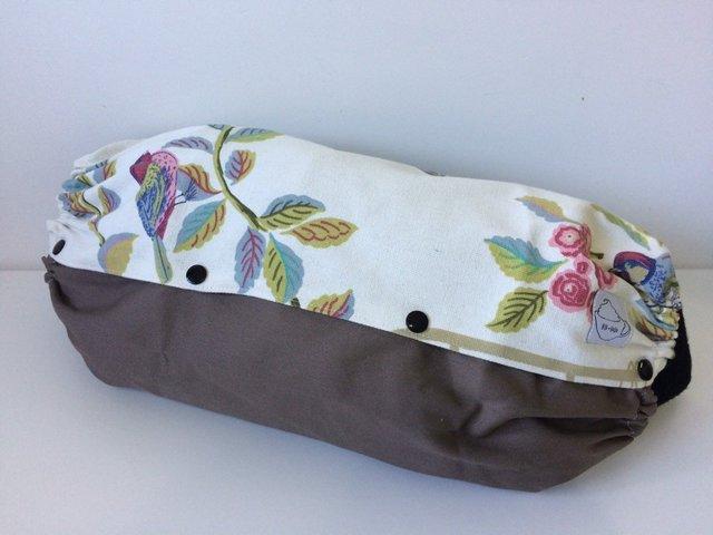 【ゆったりサイズ】お花と鳥の抱っこ紐収納ケース(カーキ)