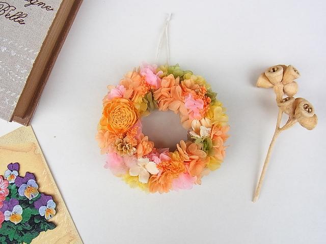 ミニリース  オレンジ&ピンク