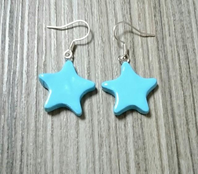 小さな星のピアスno1