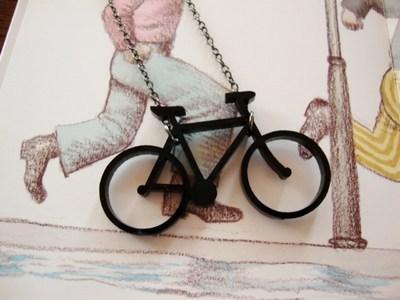 【黒い自転車】 ネックレス