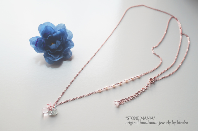 ?Lady blue&pink?long necklace?