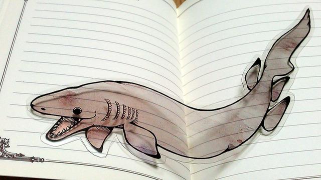 ラブカ(サメ)のしおり(送料無料)