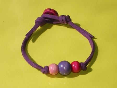 カラフルウッドブレスレット(紫)