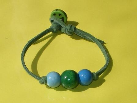 カラフルウッドブレスレット(緑)