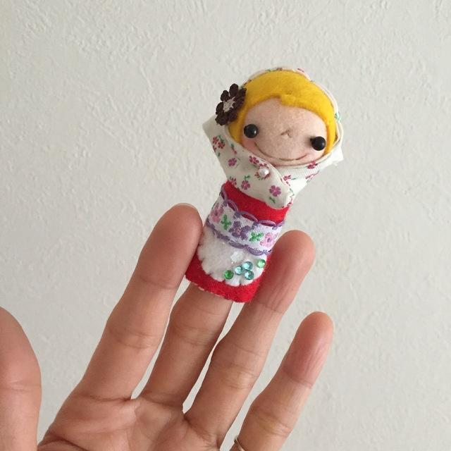 ずきんちゃんの指人形