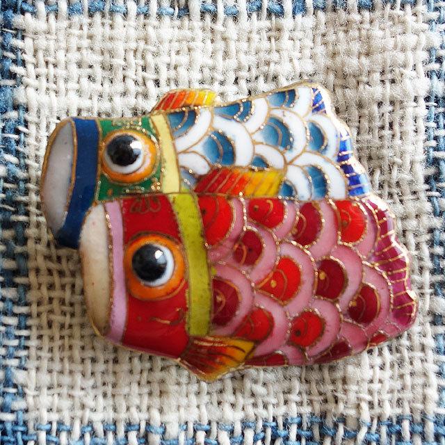 七宝焼ブローチ鯉のぼり-2