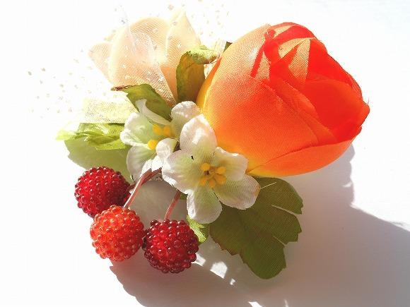 木苺の森 造花のコサージュ