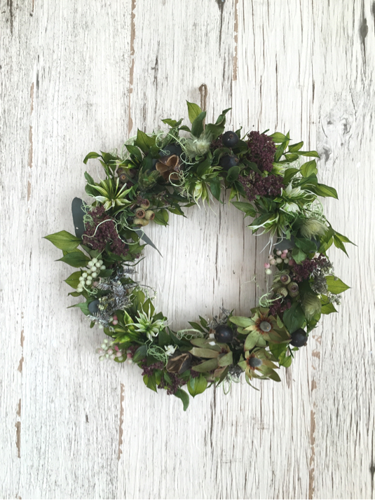 Spring greeen  wreath 2016