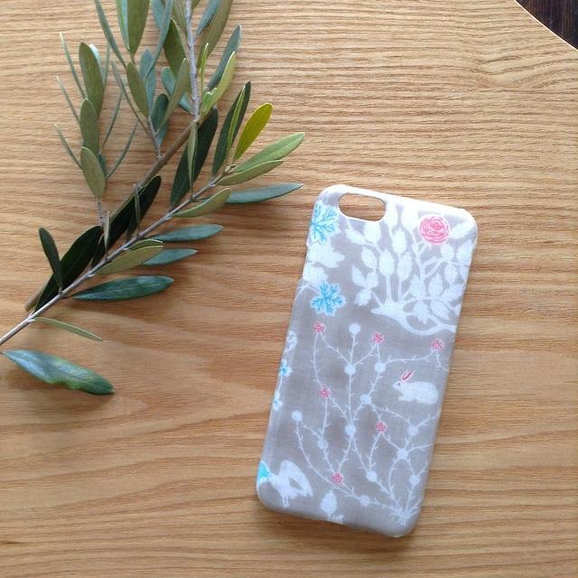 リバティ iphone6 6Sケース(yoshieグレージュ)