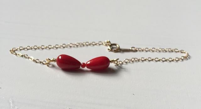 14kgf sango ribbon bracelet.