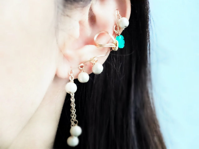 【Lily of the valley Ear Cuff 2】